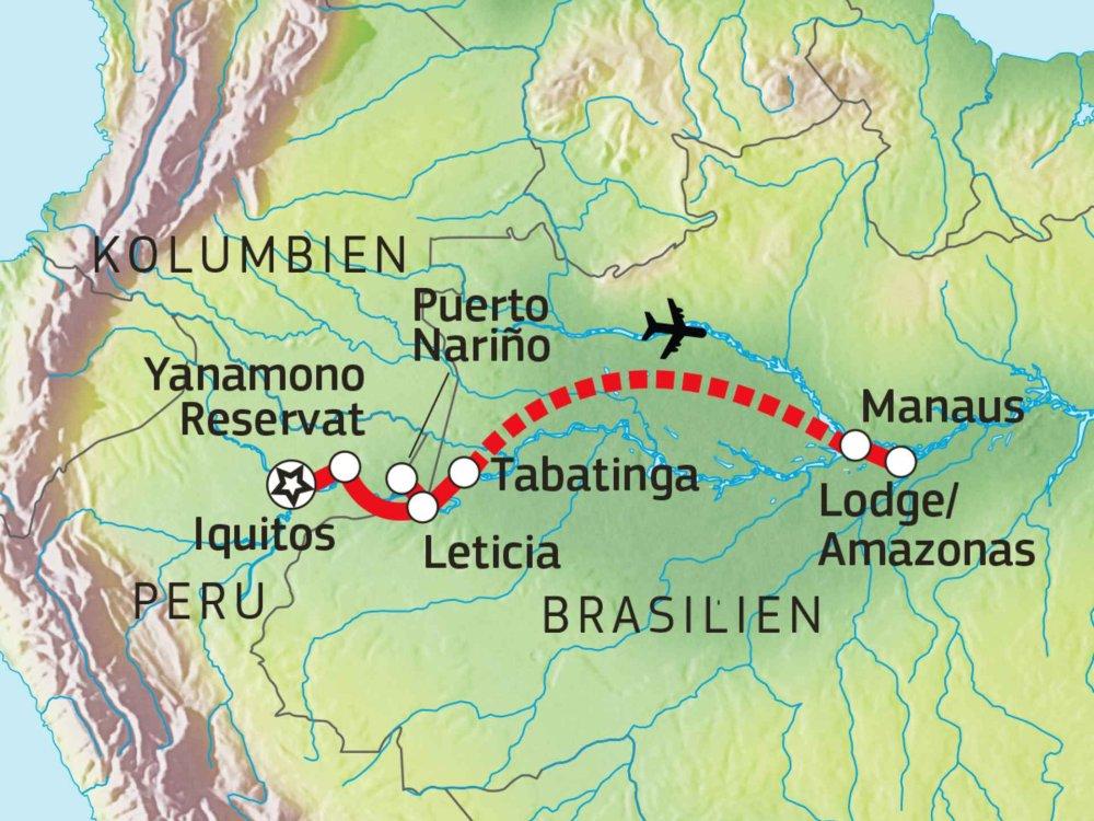 190Y41040 Erlebnis Amazonien Karte