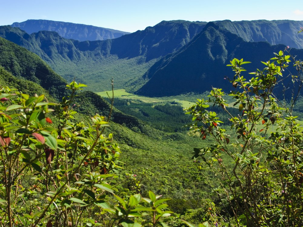 Landschaftsbild auf La Reunion
