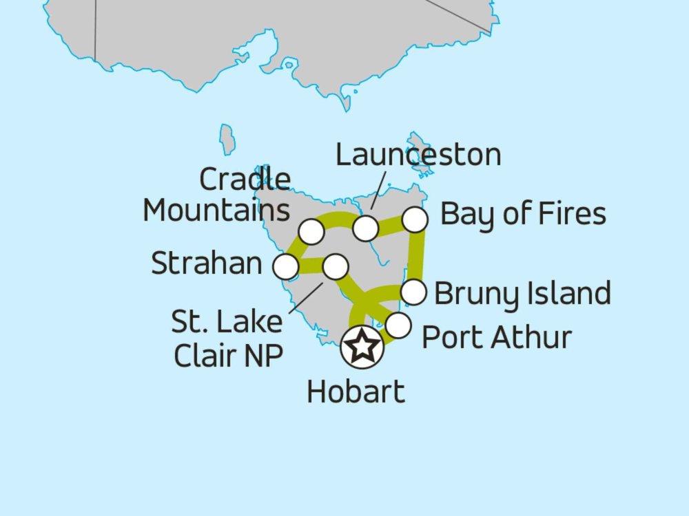 102A10094 Naturparadies Tasmanien Karte
