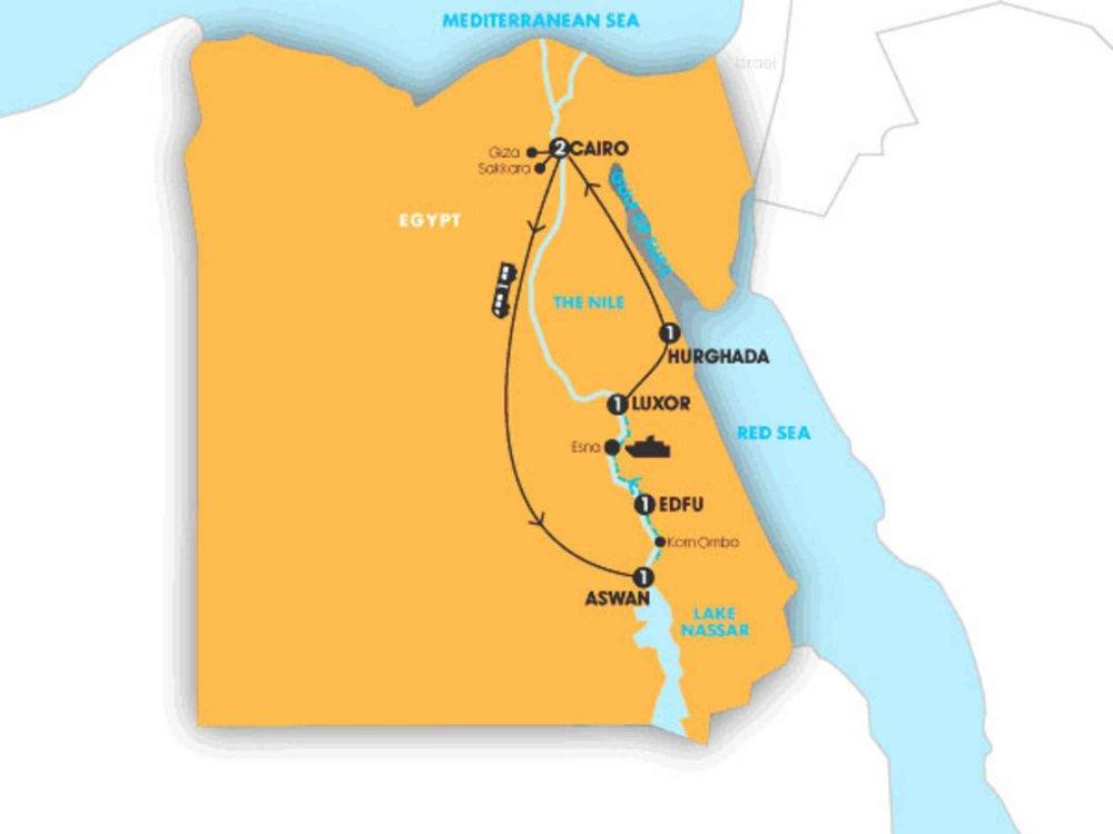 174Y10072 Erlebnisreise zu Ägyptens Kulturschätzen & Rotes Meer Karte