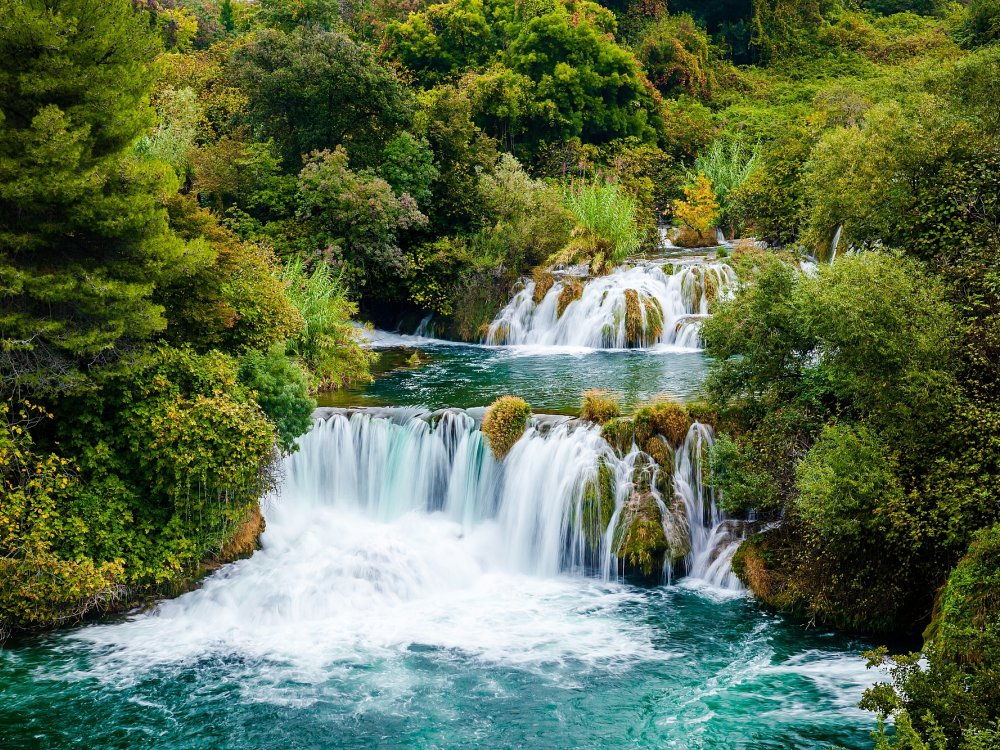 Wasserfal im Krka Nationalpark