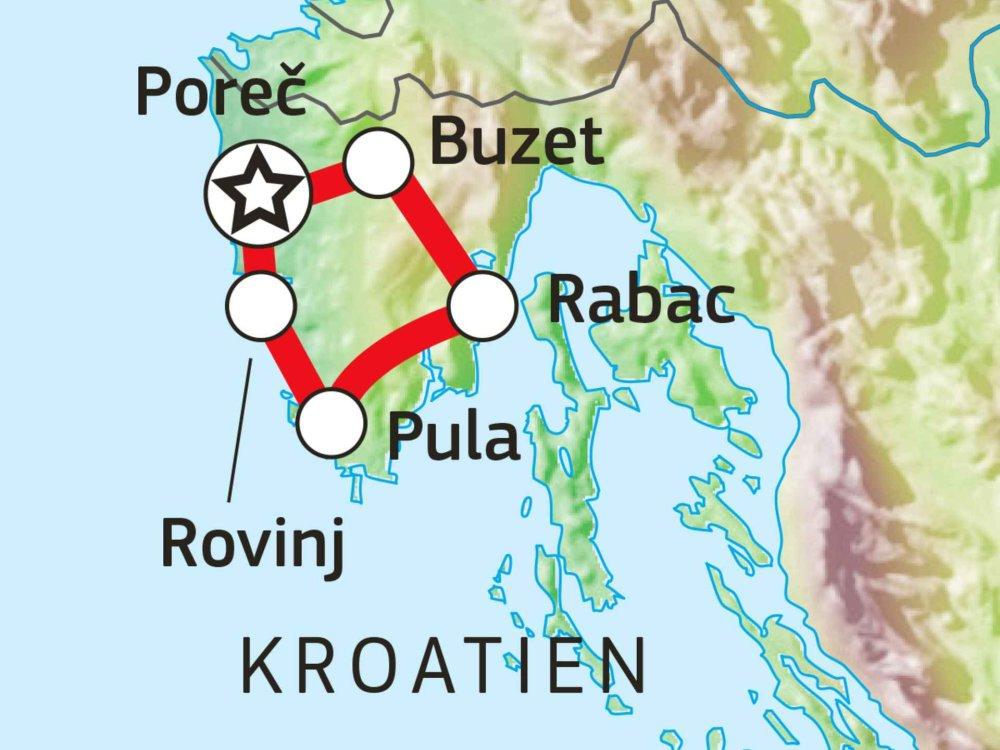 137B50020 Kroatiens Norden - Per Rad durch Istrien Karte