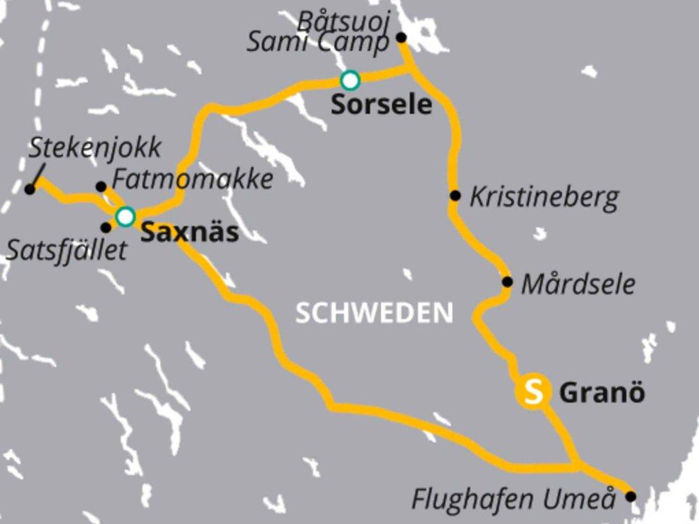 123H10031 Wandern in Schwedisch-Lappland Karte