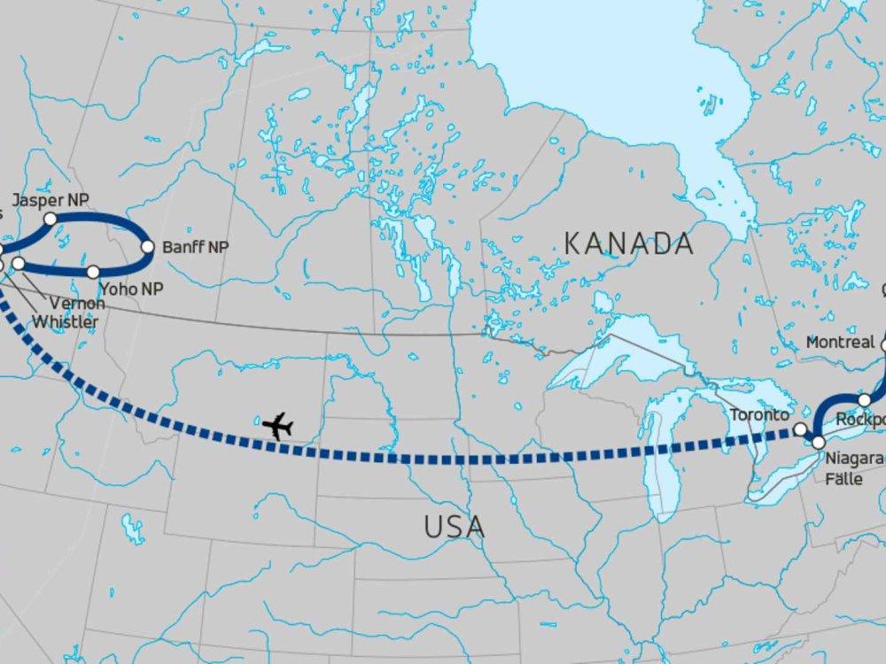 174Y10033 Kanada Reise für junge Leute Karte