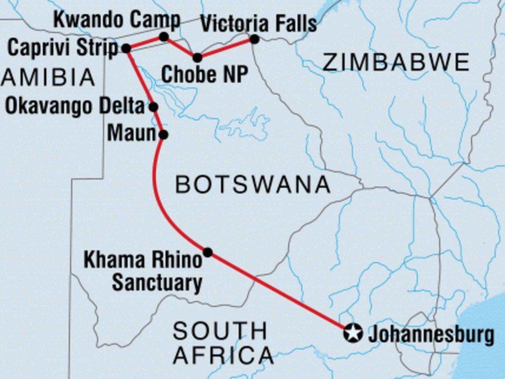 131Y21164 Entdecke Botswana Karte