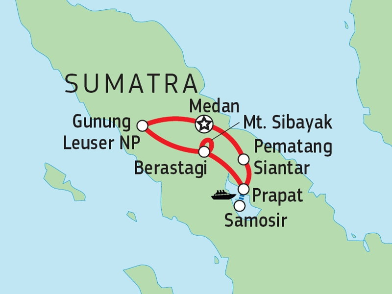 124Y21012 Nord-Sumatra Entdeckertour Karte