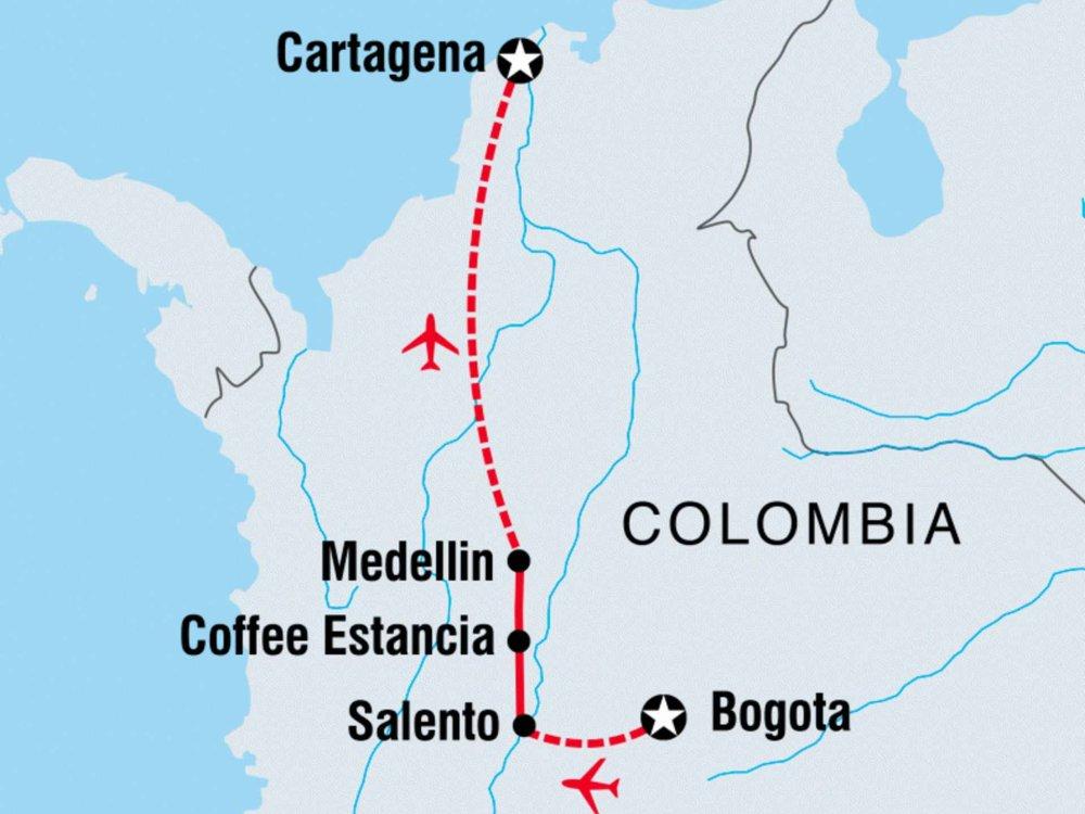 122Y60243 Café Colombia Karte