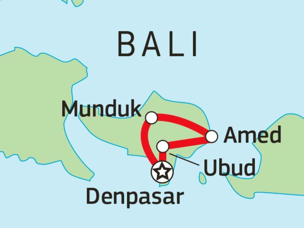 124Y21035 Bali Kultur & Natur Karte