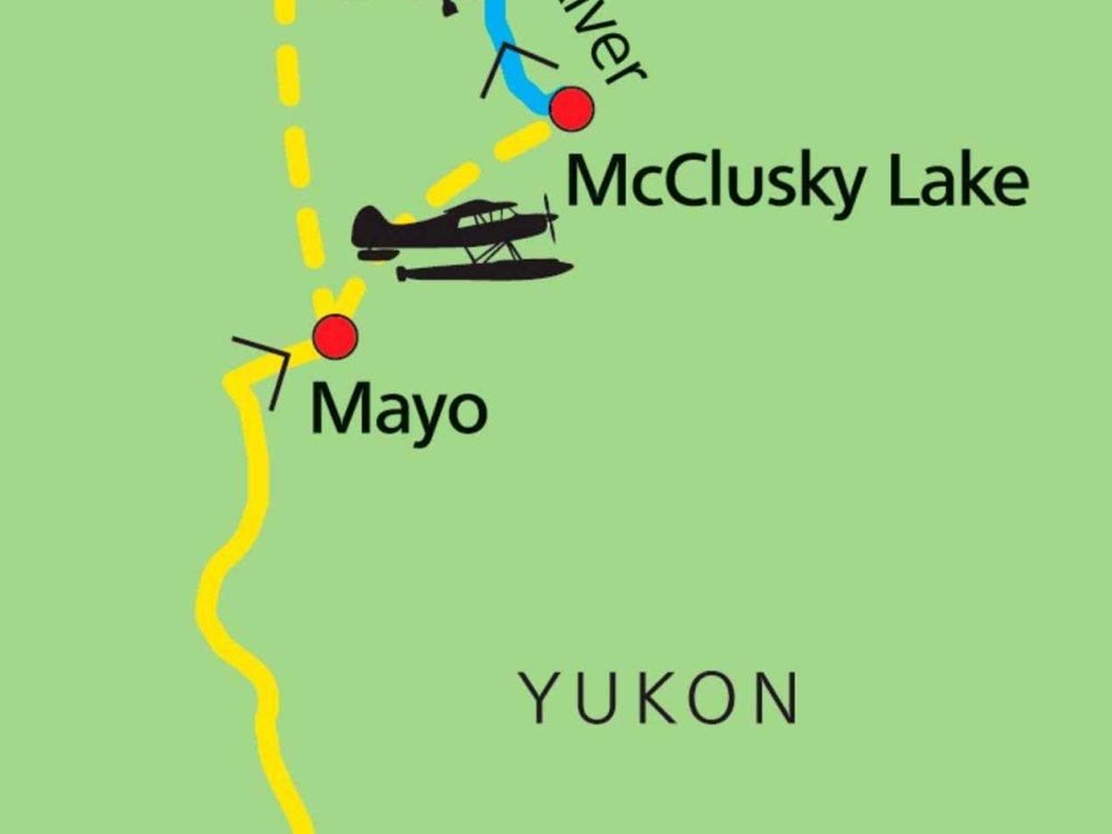 187Y31028 Yukon Kanu-Expedition auf dem Wind River Karte