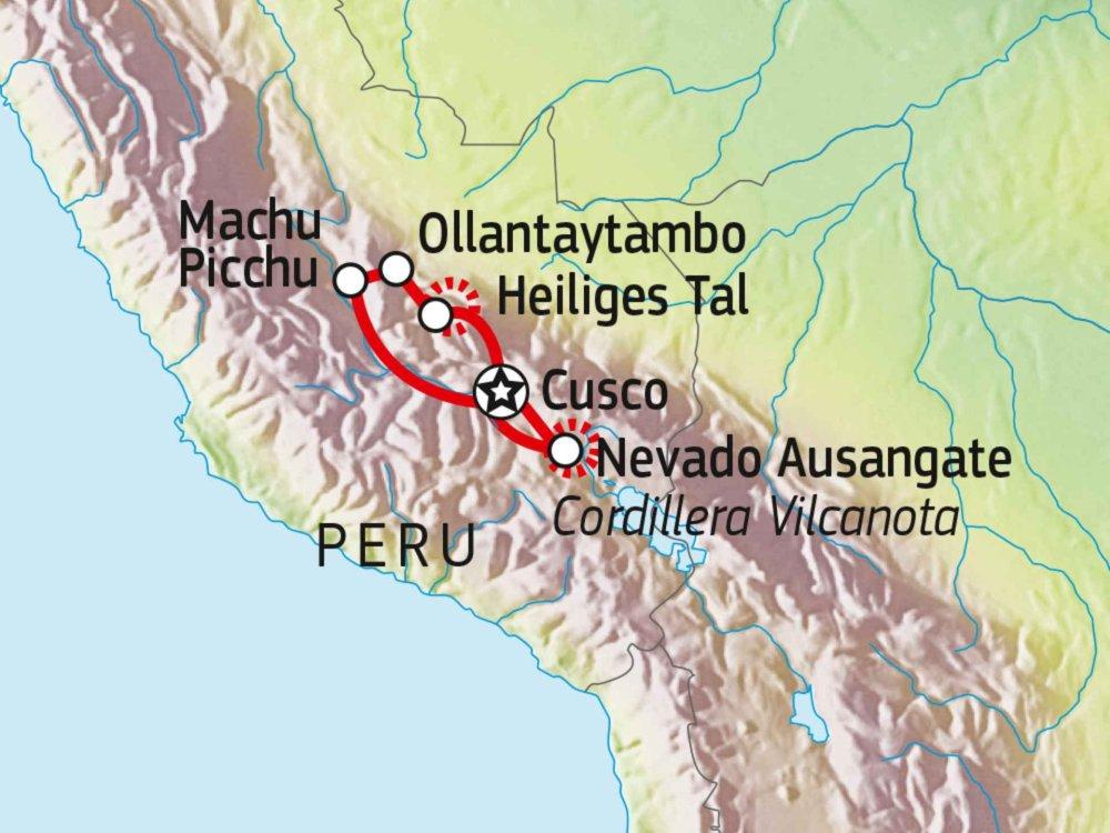 188P00022 Umrundung des Nevado Ausangate (6.372m) Karte