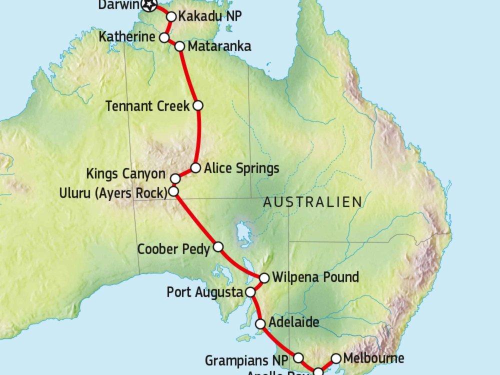 101A10001 Durchquerung des roten Kontinents Karte