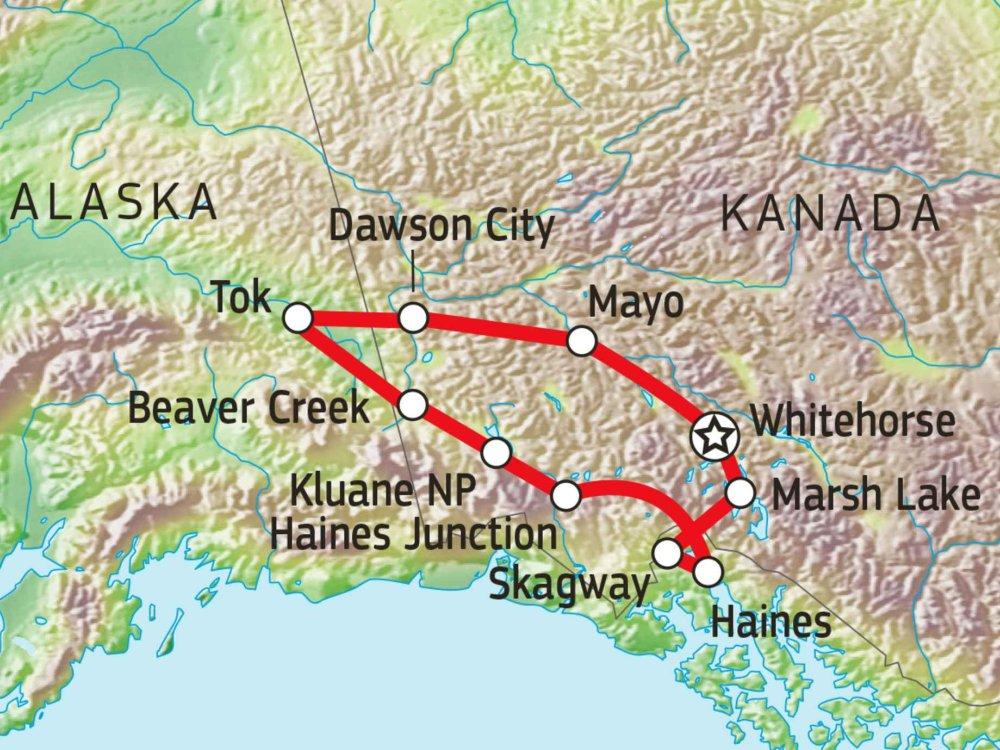 187A10002 Silver Trail - Spurensuche zwischen Yukon und Alaska Karte