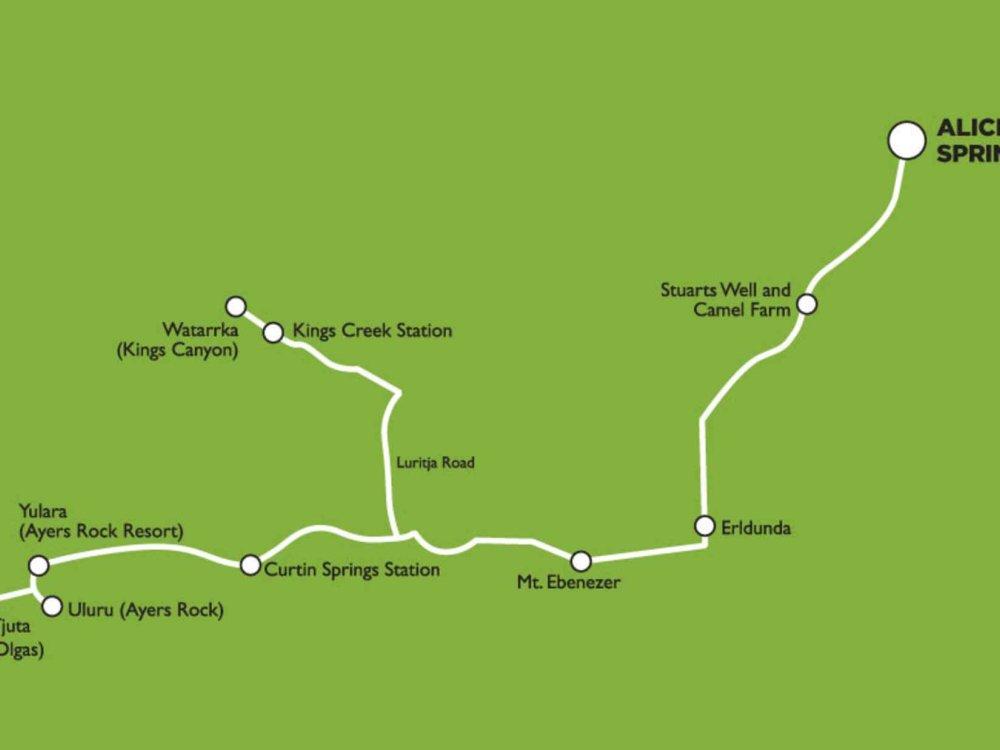 102A10091 Abenteuer Ayers Rock Karte