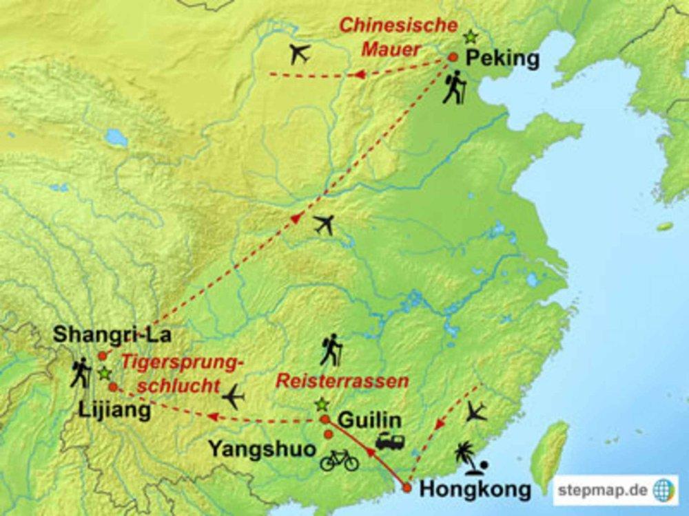 146M51003 Hongkong, Yunnan und Völkervielfalt Südwestchinas Karte