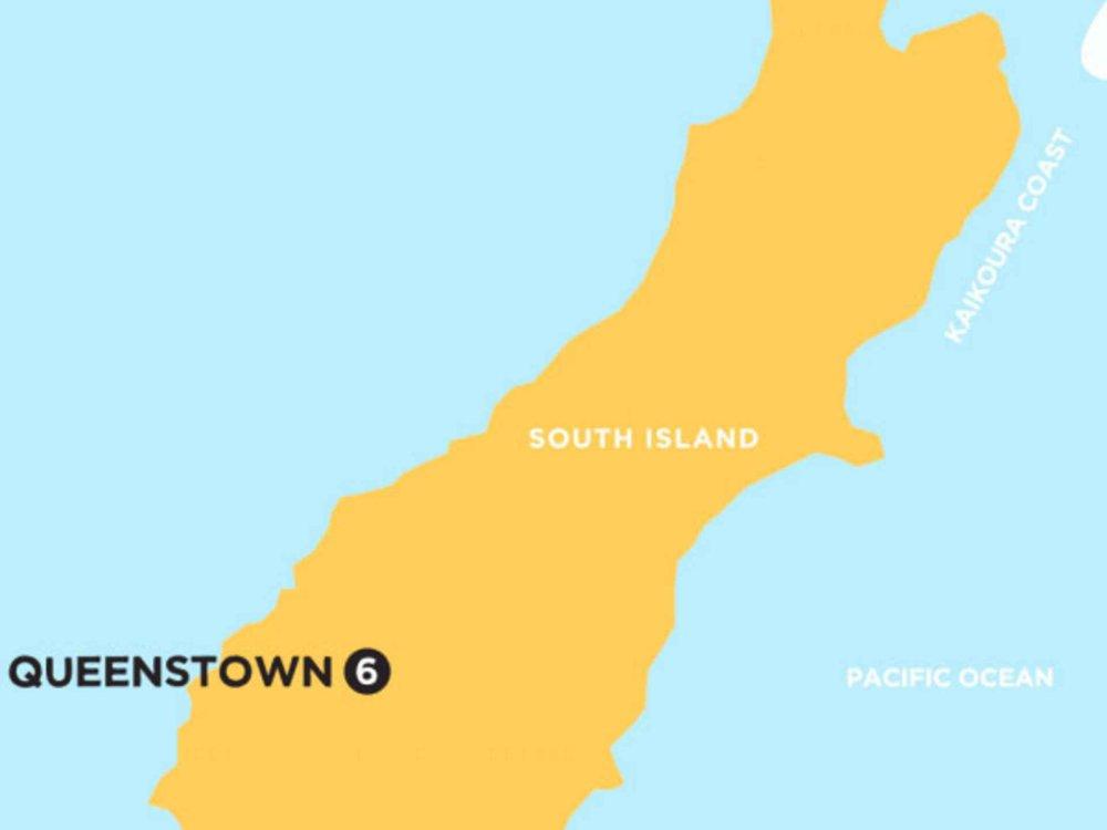 174Y10093 Ski-Abenteuer Neuseeland Karte