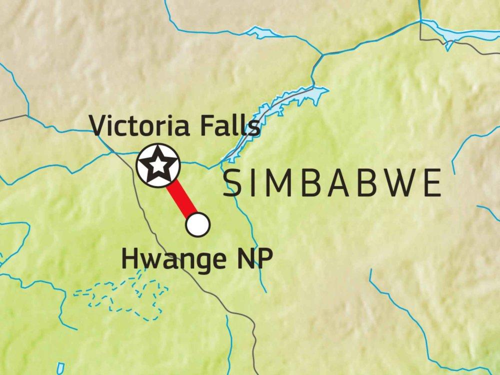 155H30001 Hwange Nationalpark Karte