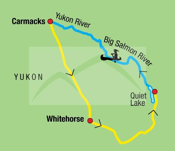 187Y31020 Kanutour auf dem Big Salmon River Karte