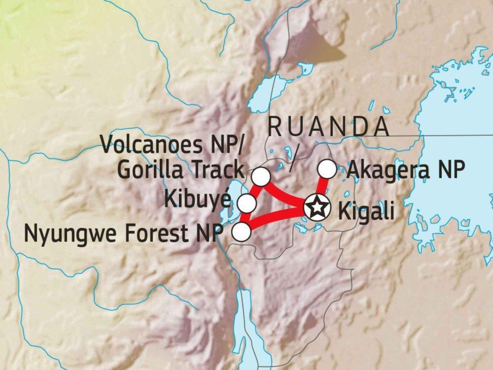 196Y10300 Absolut Ruanda! Karte