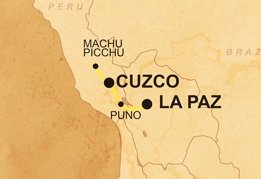 Machu Picchu & Inca Trail Karte