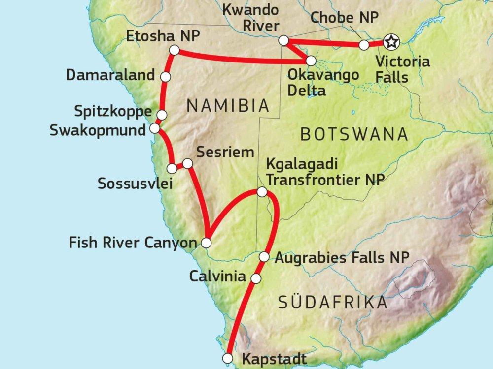 184Y10011 Trans-Kalahari Abenteuer Karte