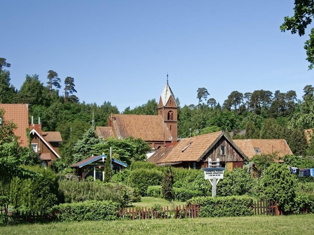 Historische Gebäude in Nida