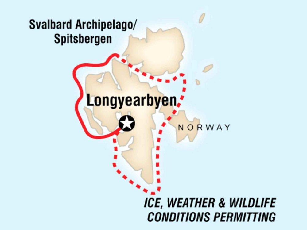 130Y50036 Arktis Expedition - Zu den Polarbären Karte