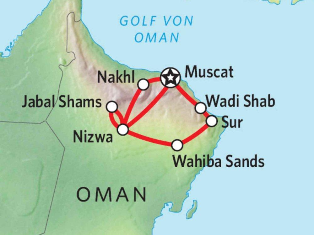 163Y10102 Nord-Oman off-road Karte