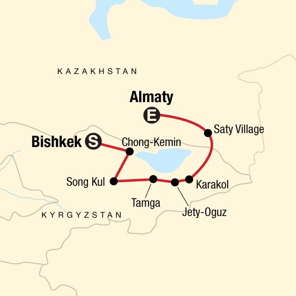 Highlights von Kirgisistan und Kasachstan