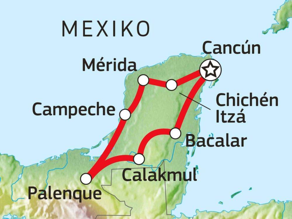 191A30095 Yucatan Intensiv Karte