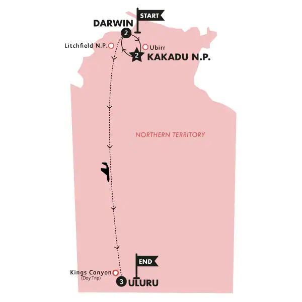 Abenteuer Outback Karte
