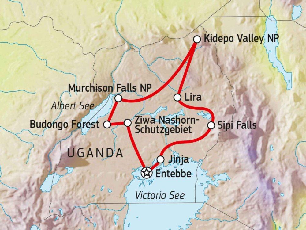 196Y40030 Ugandas unbekannte Schätze Karte