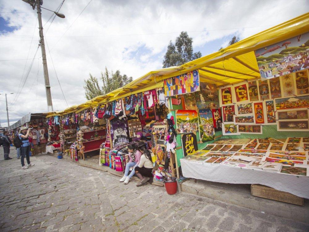 Quito Marktstände El Panecillo