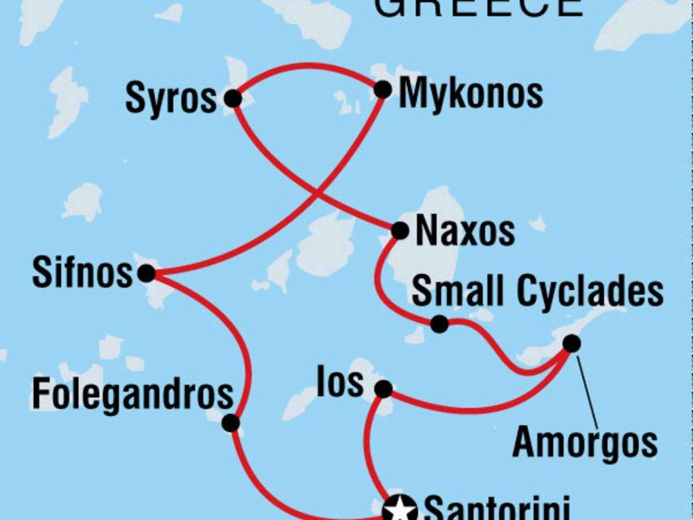 122Y60417 Segeln in Griechenland - Kykladen Karte