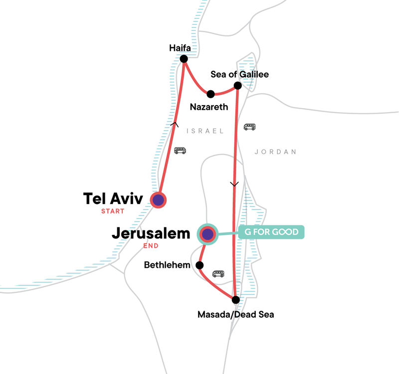 Israel erleben Karte