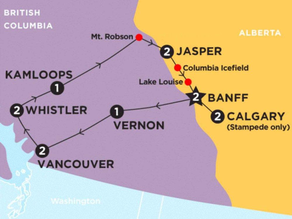 174Y10065 Kanada, Rockies & Calgary Stampede Karte