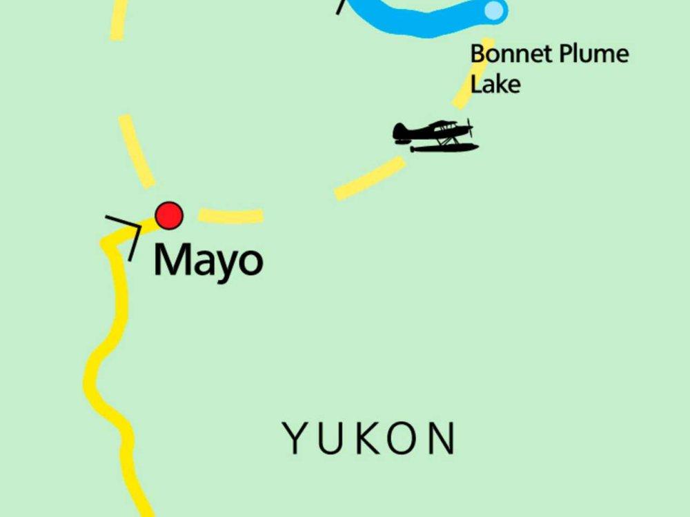 187Y31024 Kanu-Expedition auf dem Bonnet Plume River Karte