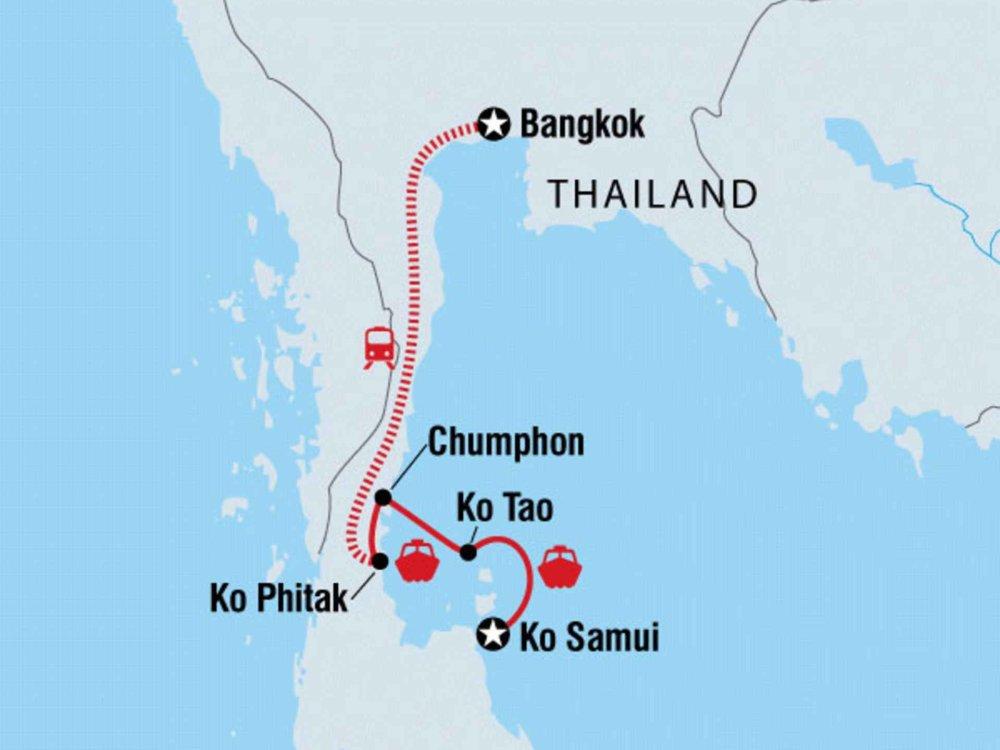122Y60153 Inselwelt Thailands - Ostküste Karte