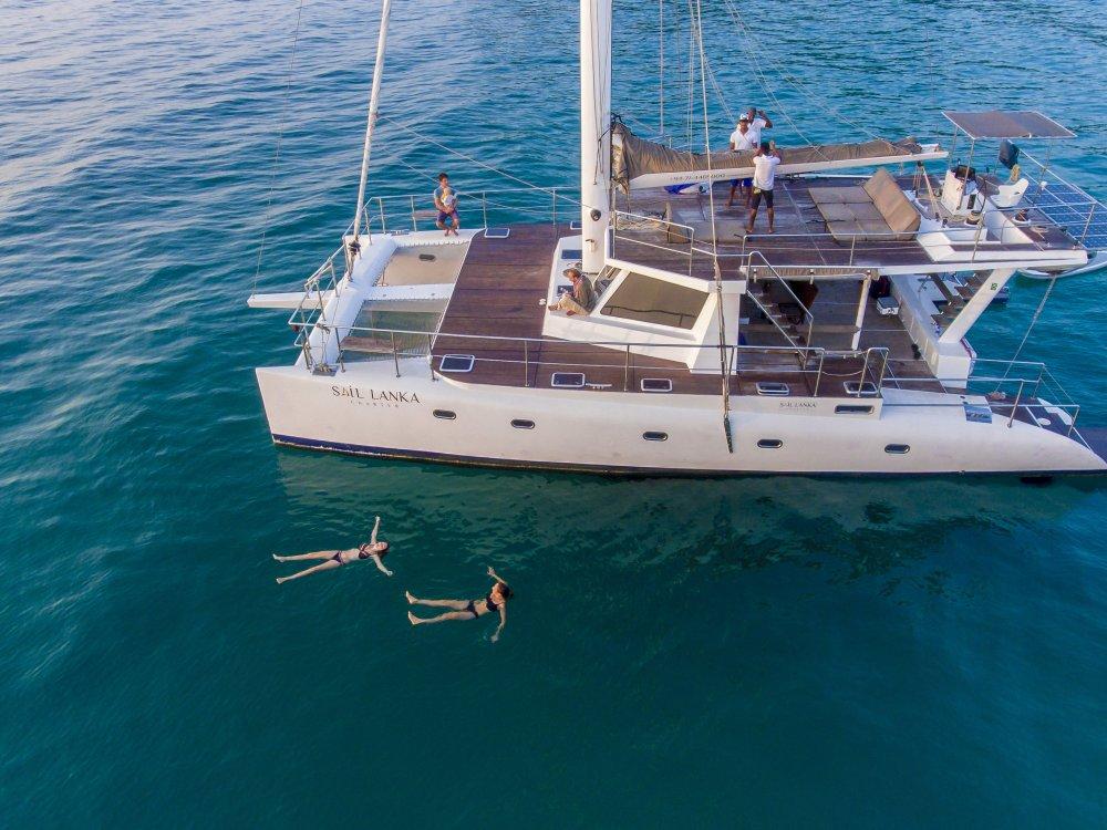 Sri Lanka South Sail Boat Travellers Swimming - 5 Lg RGB