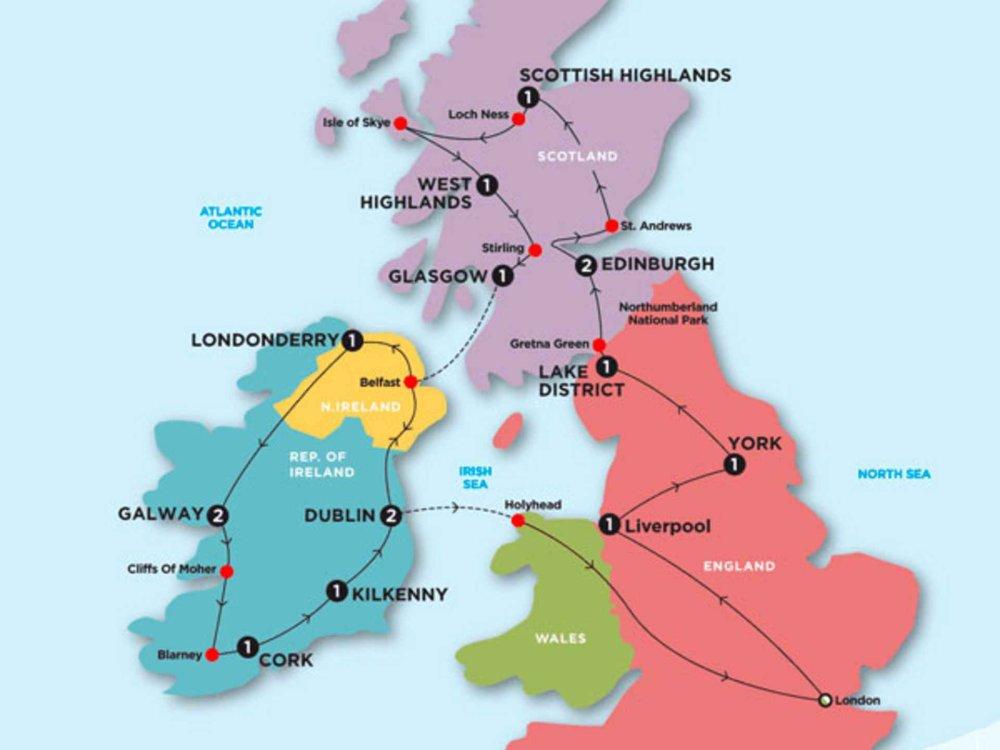 174Y20002 Great Britain & Ireland Karte