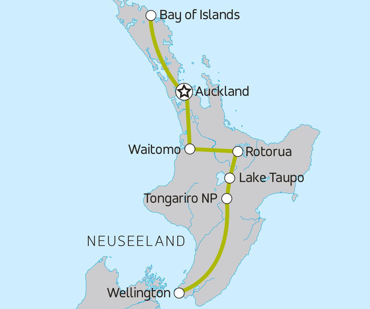 Neuseeland Nordinsel Karte.Neuseeland Nordinsel Abenteuer