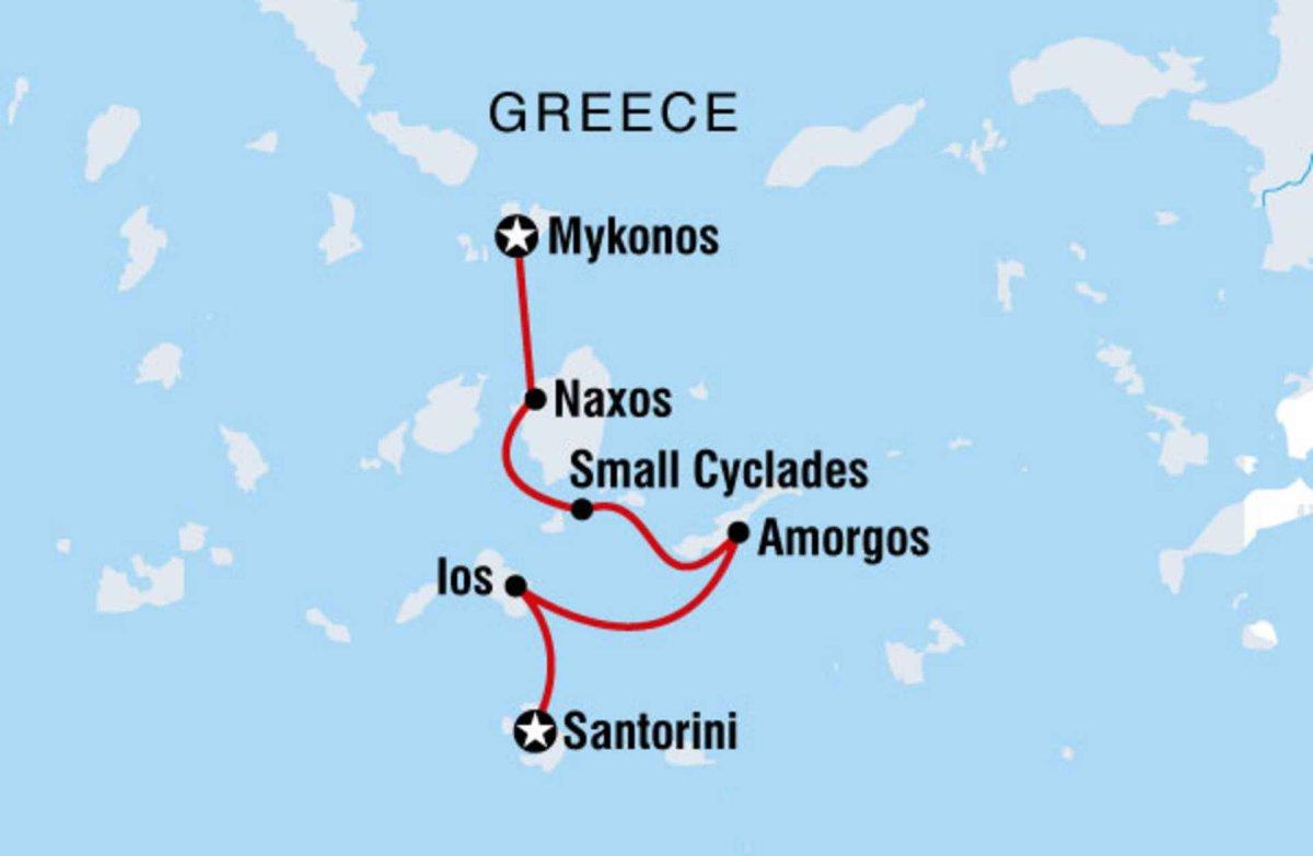 Karte Griechenland Mykonos.Segeln In Griechenland