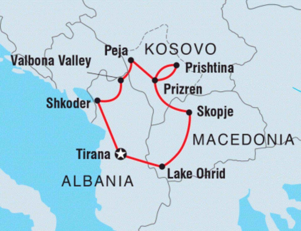 Peja Kosovo Karte.Entdecke Das Kosovo Albanien Mazedonien