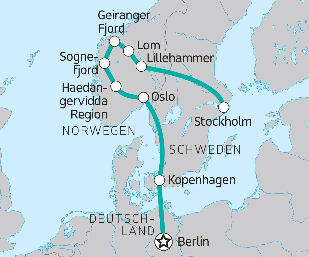 Karte Norwegen Dänemark.Entdeckertour Durch Den Süden Skandinaviens