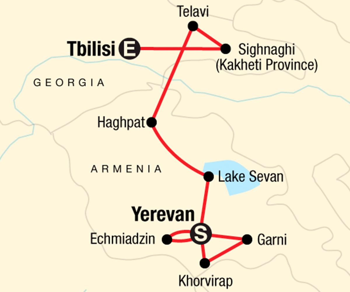 Georgien Karte Regionen.Erlebnisreise Georgien Armenien