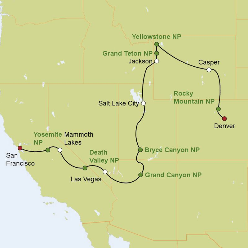Karte Usa Westen.Grandioser Amerikanischer Westen