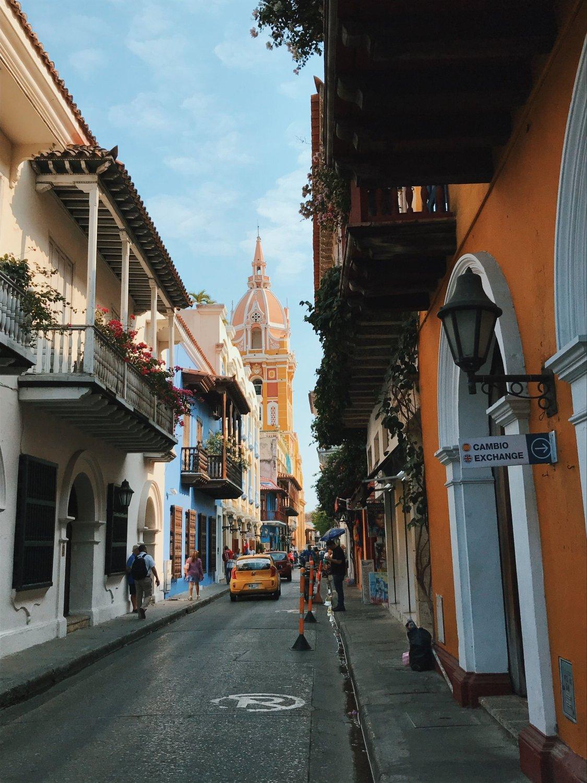 Straßen von Cartagena de Indias in Kolumbien