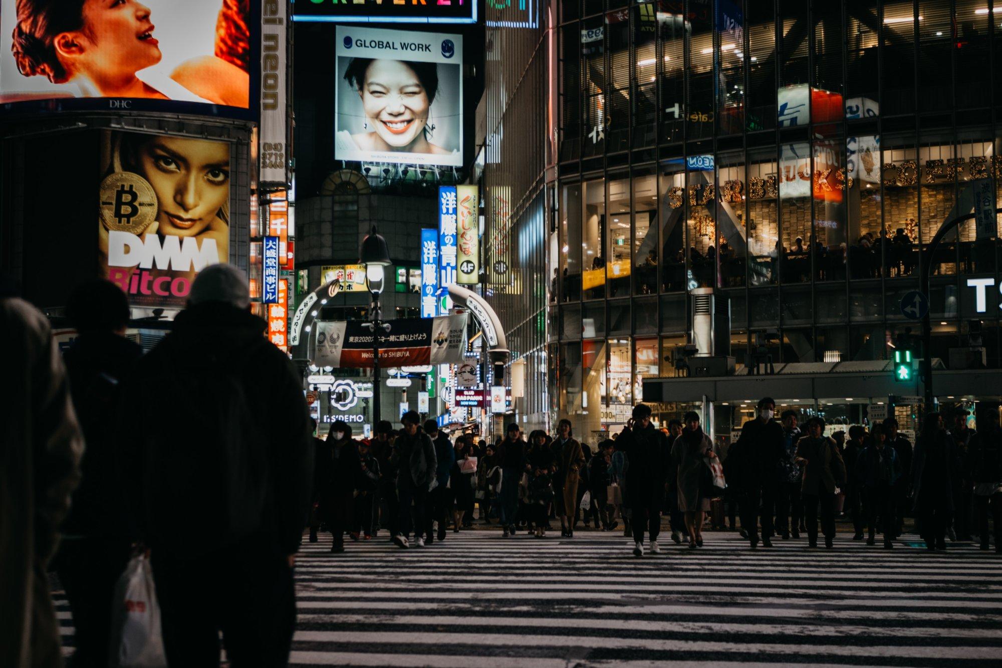 Shibuya Crossing in Tokio