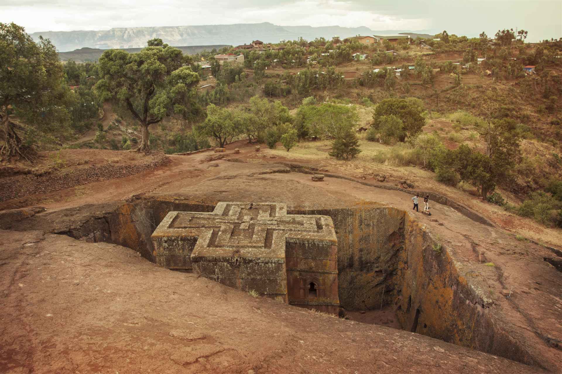 Felsenkirchen in Lilibela Äthiopien