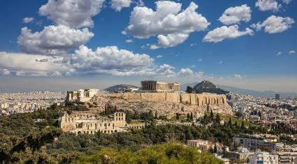 Akropolis und Parthenon Tempel von Philopappos Hill
