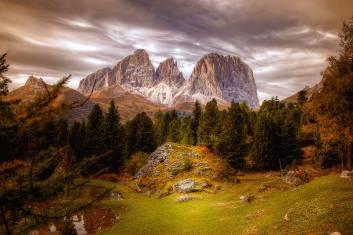 Gipfel in den Dolomiten